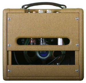 ValveTrain 205 5 watt hand wired all tube amp - Rear View