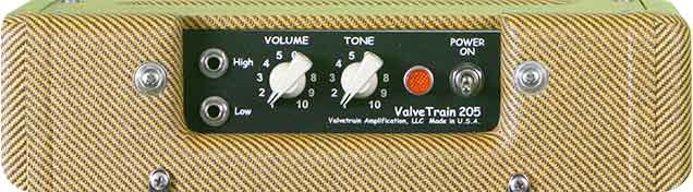 ValveTrain 205 Tall Boy Tweed Amp Control Panel