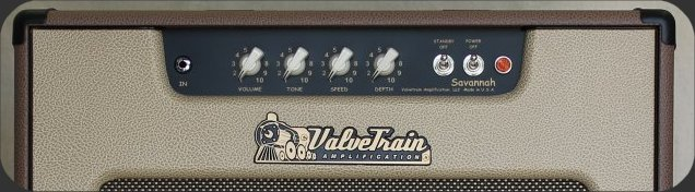 ValveTrain Savannah - Control Panel - Brown era inspired 14 watt hand wired tube amp