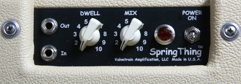 ValveTrain Spring Thing Tube Reverb Unit - Control Panel